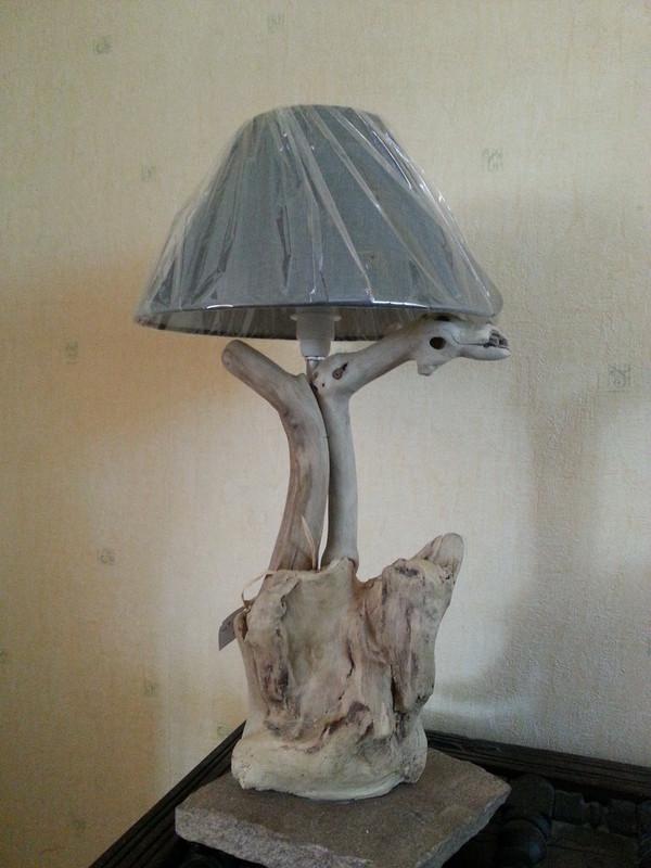 lampes salon & décos bois flottés galets